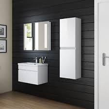 1400mm tall modern white gloss bathroom furniture cabinet storage