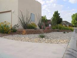 Southwest Landscape Design by Desert Front Yard Planting Scheme