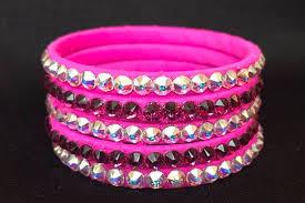 crystal pink bracelet images Carnival pink bangles with crystal ab or fuschia swarovski stones png
