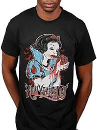 new years t shirts official new years day heart eater t shirt snow white my dear rock
