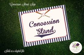 themed signs printable baseball themed signs concession stand sign
