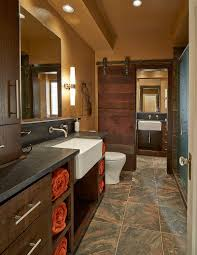 barn bathroom ideas beautiful bathroom barn door crafted from reclaimed black walnut