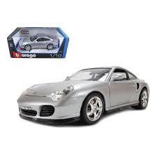 porsche 911 turbo silver porsche 911 turbo silver 1 18 diecast model car by bburago
