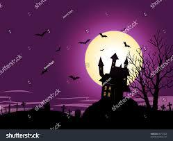 halloween background illustration spooky haunted house stock