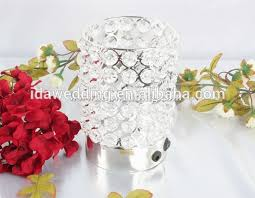 small wedding decorations crystal bead candle holders votive