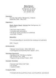 high student resume template no experience pdf high student resume template sle no experience exle