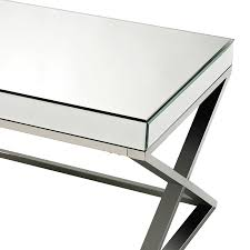 Criss Cross Coffee Table District17 Criss Cross Mirror And Stainless Steel Coffee Table