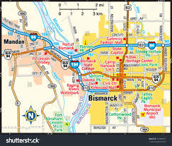Greater Seattle Area Map by Bismarck North Dakota Area Map Stock Vector 143948101 Shutterstock