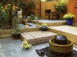 Small Backyard Landscaping Ideas Without Grass Faboulus Desaign Small Backyard Ideas With Cute Water Fauntain And