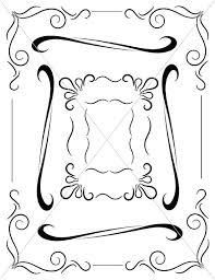 corbels ornamental lines fancy borders digital