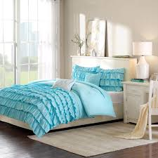 Blue Twin Bed by Elegant Romantic Blue Ruffle Bedding Twin Xl Full Queen