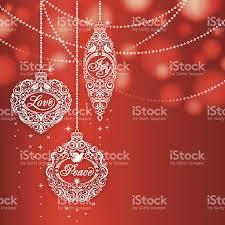 love peace joy christmas ornaments stock vector art 186669596 istock