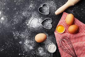 les fonds de cuisine fond de cuisson avec de la farine la goupille les oeufs et la