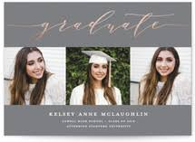 college announcements foil pressed graduation cards minted