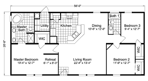 House Floor Plans With Dimensions Pine P3566g Home Floor Plan Palm Harbor Square Footage 1 494