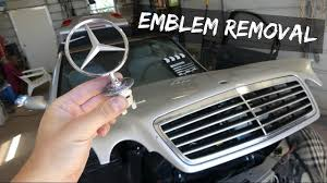 mercedes emblem removal replacement w210 clk w208 c w202 s w220