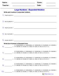 standard form place value worksheets generate as many versions