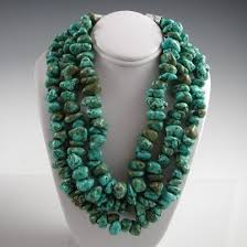 natural turquoise necklace images Davida lister kingman turquoise nugget choker jpg