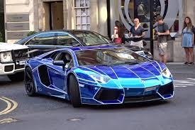 chrome blue lamborghini aventador chrome lamborghini aventador in