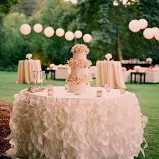 wedding cake table ideas wedding cake table decor ruffled skirting crazyforus