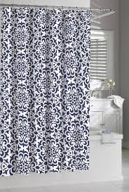 Kassatex Shower Curtain Shower Curtain Kassatex Navy White Seawave Medallion Indigo