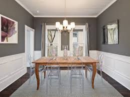 dining room colors paint with chair rail for small ideas two tone