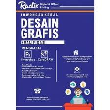 lowongan kerja desain solo kerja desain grafis radix digital offset printing