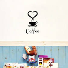 aliexpress com buy coffee shop restaurant wall decor decals home aliexpress com buy coffee shop restaurant wall decor decals home decorations 361 kitchen removable vinyl wall art diy decorative sticker from reliable