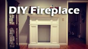 diy faux fireplace with hidden storage woodproject youtube