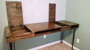 homemade modern diy flip desk with pictures
