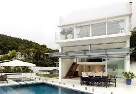 Beach House Designs by Small And Fantastic White Beach House Design Ideas With Pool
