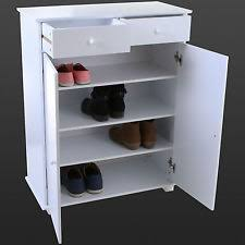 shoe cabinet with drawer damaged 2 drawer white wooden shoe cabinet rack footwear storage