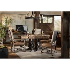 castle hills 60in game table with leather top by hooker furniture