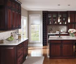 Kitchen With Glass Cabinet Doors Cherry Kitchen With Glass Cabinet Doors Decora