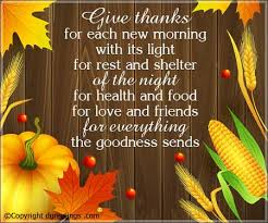 give thanks for each new morning thanksgiving quotes cards