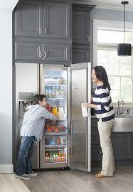Samsung Cabinet Depth Refrigerator Samsung Showcase 21 5 Cu Ft Counter Depth Side By Side