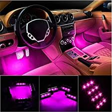 Automotive Led Light Strips Amazon Com Car Interior Lights Ej U0027s Super Car 4pcs 36 Led Dc 12v