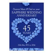 45th anniversary cards invitations zazzle co uk
