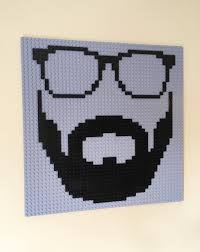 Game Room Wall Decor by Hipster Lego Wall Art Glasses Beard Dapper Hanging Picture