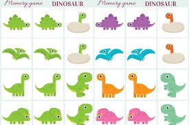 dinosaur memory game free printables creative kitchen