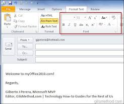 format html for email how to change the default email format in outlook 2010
