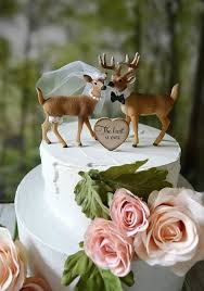 deere cake toppers deer cake toppers wedding topper woodland animal country mossy oak