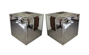 cube mirror side table viyet designer furniture tables john richard mirrored cube