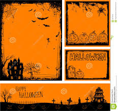 halloween photo backgrounds multiple orange halloween banners and backgrounds stock photos