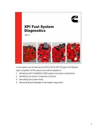 isx15 fuel system diagnostics fuel injection engine technology