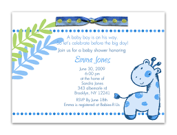 How To Make Baby Shower Invitation Cards Baby Shower Invitation Wording For A Boy Kawaiitheo Com