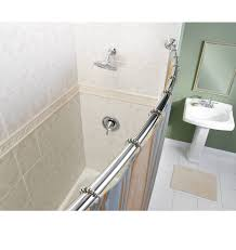 curved shower curtain rod tension best shower curtain ideas