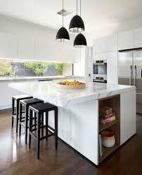 cuisine blanche avec ilot central couleur cuisine la cuisine blanche de style contemporain ideeco