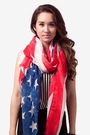 American Flag With Yellow Fringe Red Rustic American Flag Scarf Patriotic Scarves Scarves Com
