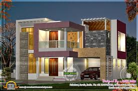 exterior view night view exterior with floor plan home kerala plans
